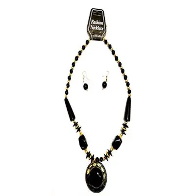 Black Big Pearl Necklace