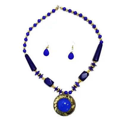 Blue Big Pearl Necklace