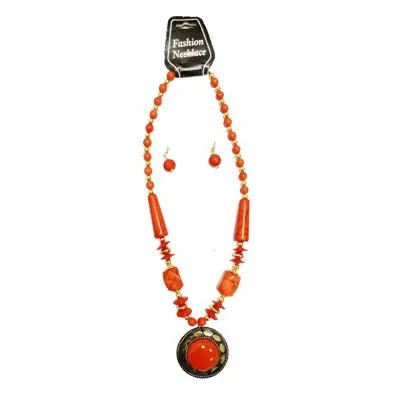 Orange Big Pearl Necklace