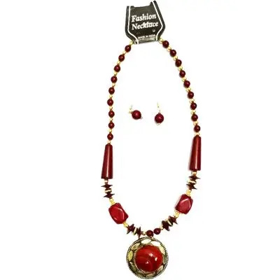 Red Big Pearl Necklace