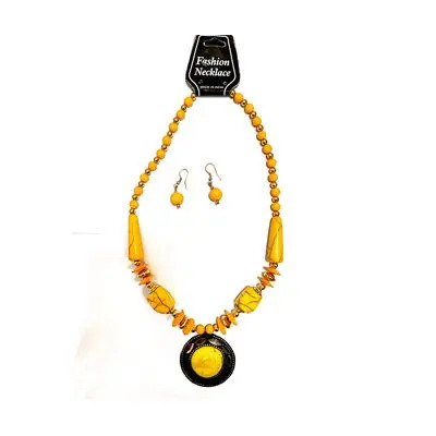 Yellow Big Pearl Necklace