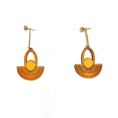 Yellow Diya Earring