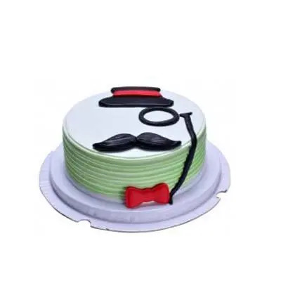 Delectable Fathers Day Vanilla Cake