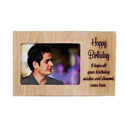 Happy Birthday Engraved Photo Frame