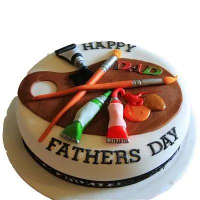 Happy Fathers Day Fondant Cake