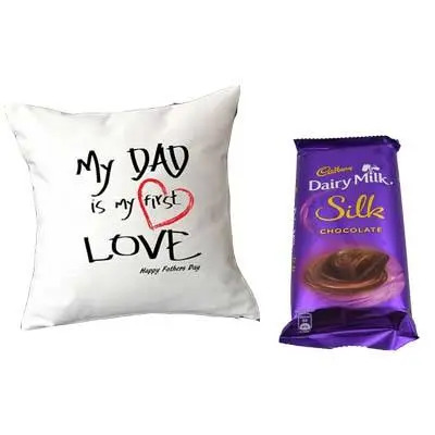 Love Cushion for Father with Silk