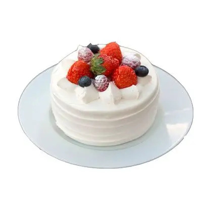 Fresh Berry Vanilla Cake