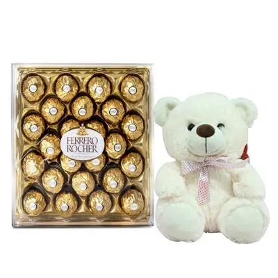 24 Pcs Ferrero Rocher with Teddy