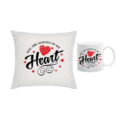 Living in My Heart Cushion & Mug