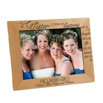 Engraved Photo Frame for Sister