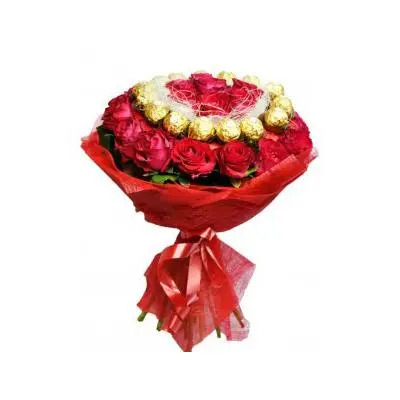 Ferrero Rocher with Rose Bouquet