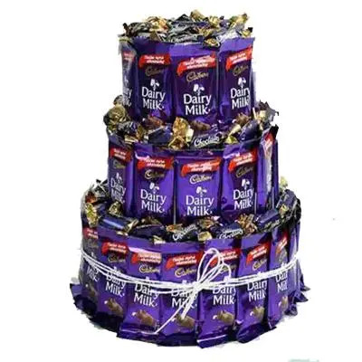 3 Layer Dairy Milk Chocolates Bouquet