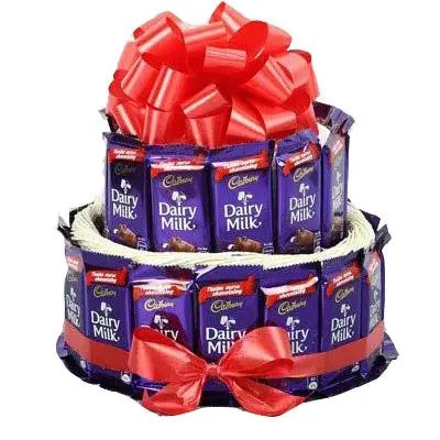2 Layer Dairy Milk Chocolates Bouquet