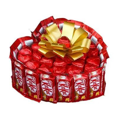 Heart Shaped Kitkat Chocolate Bouquet