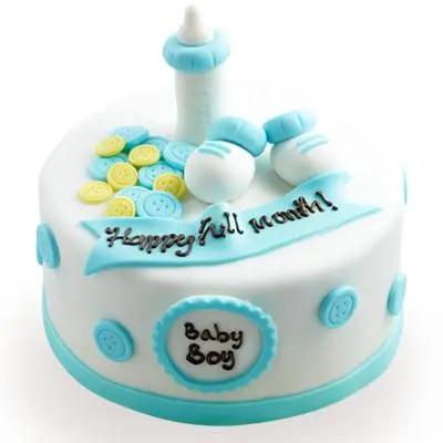 Baby Cheers Fondant Cake