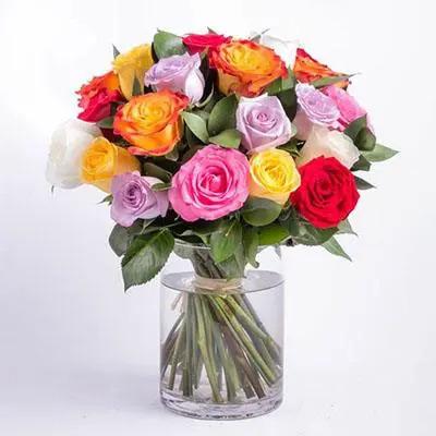 Mix Roses Big Vase