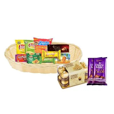 Cookies & Biscuit Basket with Chocolates