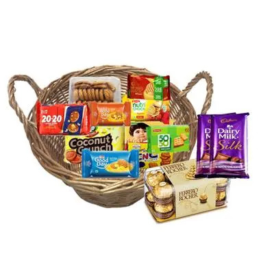 Cookies and Biscuit Gift Hamper with Chocolates