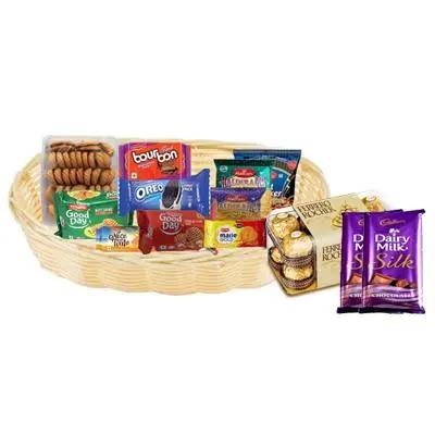 Cookies, Biscuit & Namkeen Gift Hamper with Chocolates
