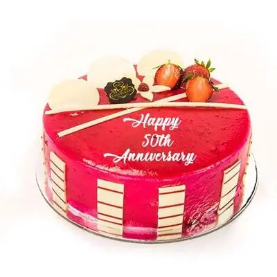 50th Anniversary Strawberry Cake