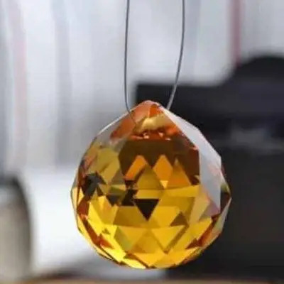 Yellow Swarovski Crystal Ball Sun Catcher Vastu Feng Shui