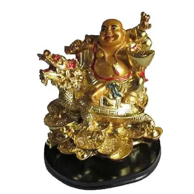 Feng Shui Laughing Buddha With Dragon