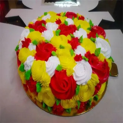 Multi Color Pineapple Cake