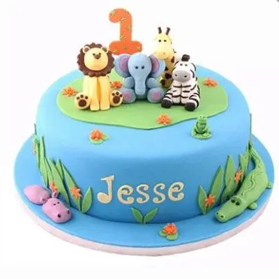 Animal Themed Cake