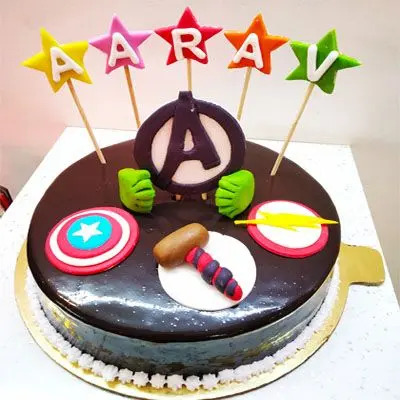 Superhero Themed Cake