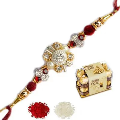 Designer Rakhi with Ferrero