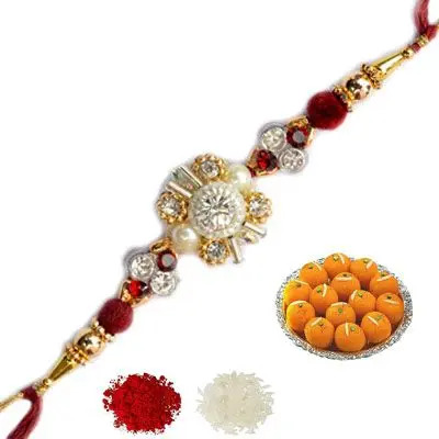 Designer Rakhi with Laddu