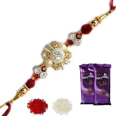 Designer Rakhi with Silk