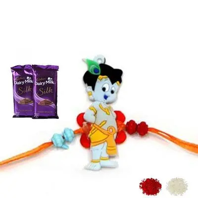Krishna Rakhi with Silk