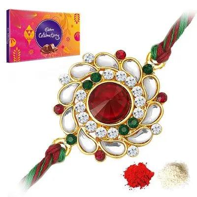 Kundan Rakhi with Celebration