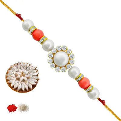Pearl Rakhi with Burfi