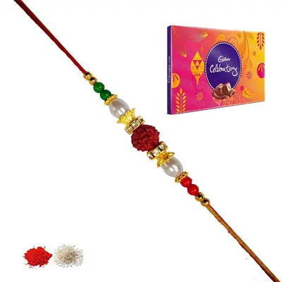 Rudraksha Rakhi with Celebration