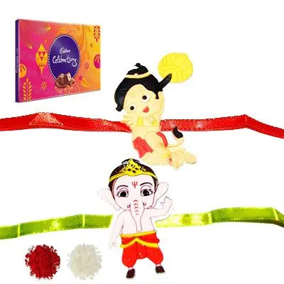 Set of 2 Kids Rakhi with Celebration