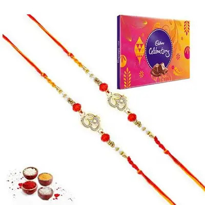 Set of 2 Om Rakhi with Celebration
