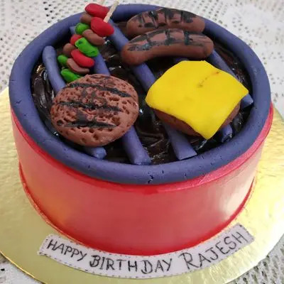 Barbeque Themed Cake