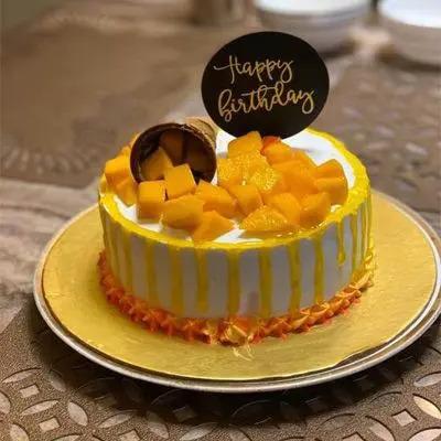 Mango Round Birthday Cake