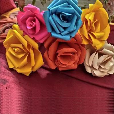 Handmade Paper Rose Flower