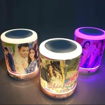 Personalized Bluetooth Speaker with Touch Lamp