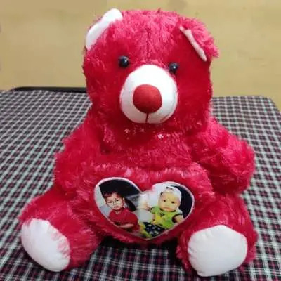 Personalized Red Teddy Bear