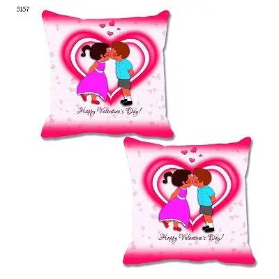 Pink Love Theme Cushion Cover