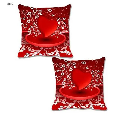Red White Cushion Cover