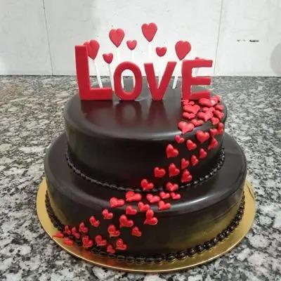 Chocolate Cake Double Tier