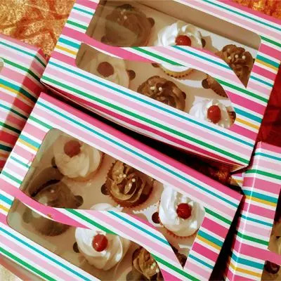 Eggless Choco Vanilla Cup Cakes