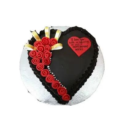 Chocolate Beast Heart Cake
