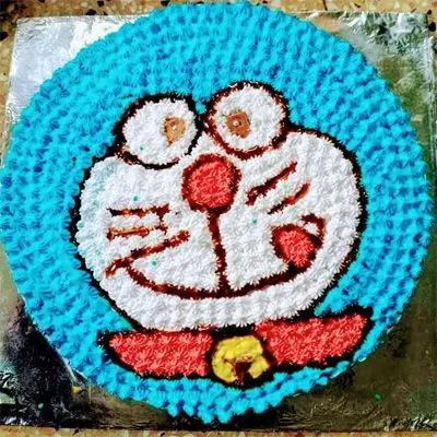 Eggless Doraemon Cake