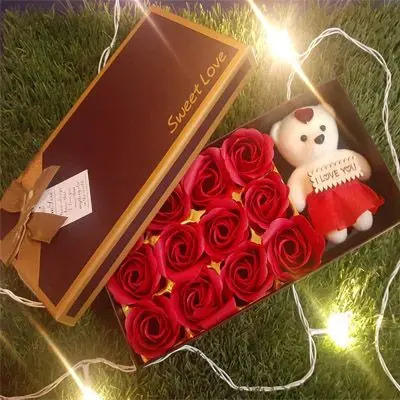 Rose and Teddy Box
